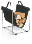 Log Basket, black,MADRA