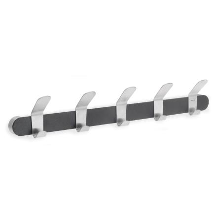 Coat Rack, 5 hook, black,VENEA