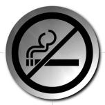 SIGNO WC-skylt & Rökning förbjuden