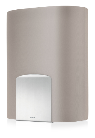 Laundry bin, taupe,SPINTA